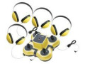 Califone 1114YL-4 Listening Center Mini Stereo Jacbox w/4-Headphones (Yellow)
