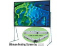 "Draper 10'6"" x 14"" Ultimate Folding Screen in Matte White with Wheel Case and HD Legs"