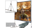 Draper Cinefold 12' X 12 Front Projection Screen Matte White - Standard Legs - Square Format