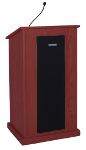 Amplivox S470 Chancellor Lectern with Sound System - Mahogany image