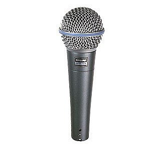 Shure Beta 58 Supercardioid Dynamic Mic