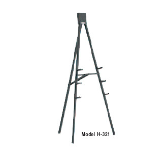 Da-Lite H321 Bantam 5' Black Powder Coated Easel