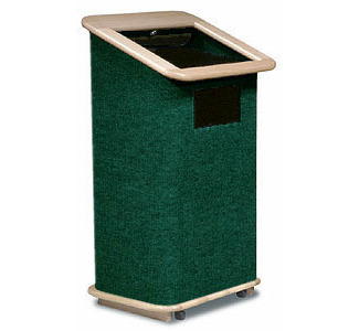 Sound-Craft Economy Lectern with Oak Trim  Hunter Green Carpet