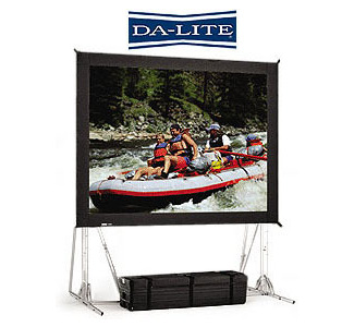 DA-LITE 9'x 12' Da-Mat Fast-Fold Truss Frame Screen with Case