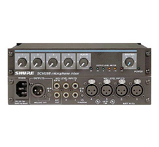 SHURE 4-Channel Mic/Line Mixer with Phantom Power