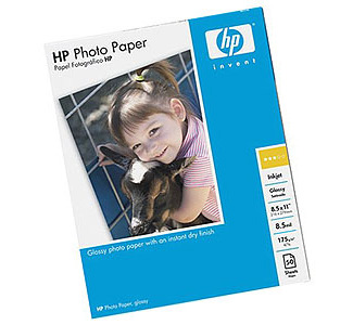 "HP 50-Sheet 8.5""x 11"" Premium Photo Glossy Inkjet Paper"