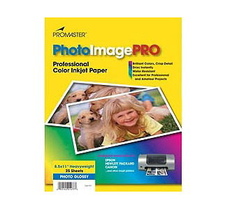 "PROMASTER 8-1/2""x 11"" Heavyweight Gloss Paper - 25 Sheets"