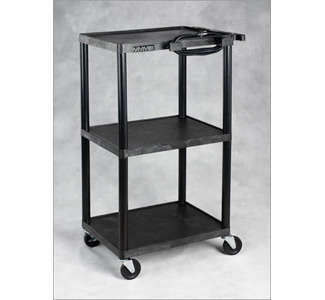 Camcor AV1642E Plastic Multi-Purpose AV Cart