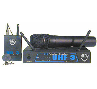 Nady UHF-3/U Wireless Lavalier Microphone System (Handheld mic not included)