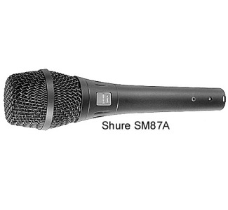 Shure SM87A Vocal Microphone 50 to 18,000 Hz SM87A