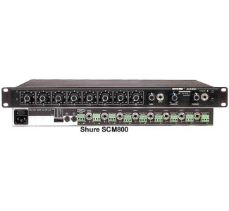Shure SCM800 Eight Channel Microphone Mixer