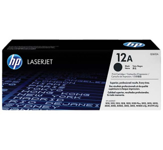 HP LaserJet Black Print Cartridge with Smart Printing Technology - Q2612A