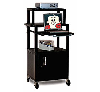 H wilson Presentation Cart with Monitor Shelf WTPS42CE-M