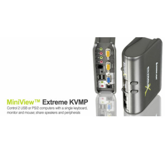 IOGear MiniView™ Extreme Multimedia KVMP Switch w/Cables GCS1732