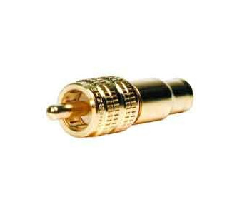 Comprehensive Premium True 75 Ohm RCA Plug, Crimp Type for RG-59U RCA-75C