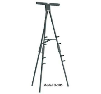 DA-LITE D305 Portable Folding Easel - Black
