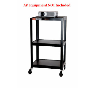 "Wilson 42"" Fixed Height Metal Cart with Electric"