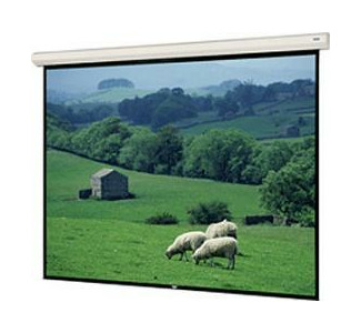 "Da-Lite Large Cosmopolitan Electrol 96388 123"" x 164"" Matte White Electric Screen"
