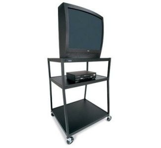 "Bretford Wide Base 27"" Television Cart with Electrical Unit and Safety Belt"
