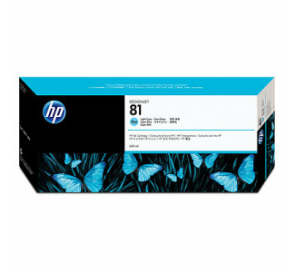 HP 81 Light Cyan Dye Ink Cartridge