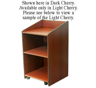 VFI LE3060 Mobile Lectern - Light Cherry