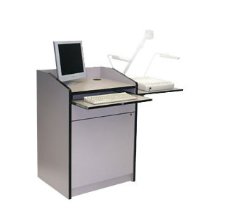 VFI PD3003 Economy Podium with Keyboard Drawer - Gray