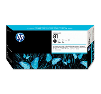 HP 81 Black Dye Printhead / Cleaner