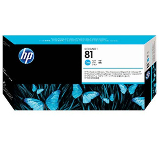 HP 81 Cyan Dye Printhead / Cleaner