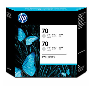HP #70 Twin Pack - Light Gray (130 ml)