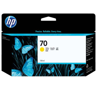 HP #70 Ink Cartridge - Yellow (130 ml)