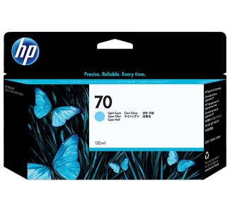 HP #70 Ink Cartridge - Light Cyan (130 ml)