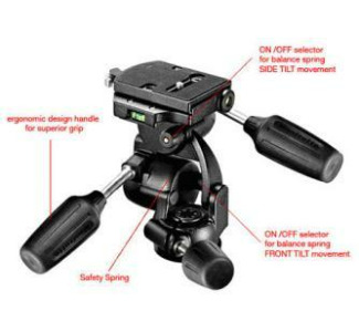 Bogen/Manfrotto 808RC4 3-Way Pan/Tilt Head