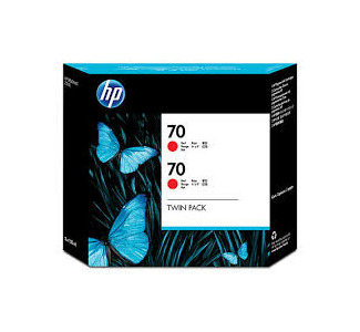 HP #70 Twin Pack - 130ml (Red)