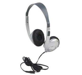 Califone 3060AVS Stereo Headphone-Silver with 3.5mm plug (no volume control)