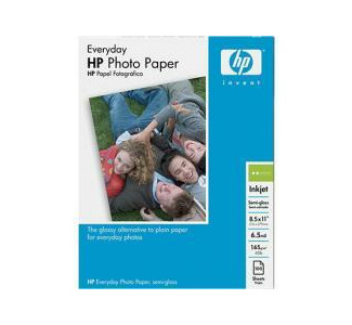 HP Everyday Photo Paper, Semi-Gloss (100 sheets, 8.5 x 11-inch)