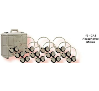 Califone CA2 Stereo Headphones 30-Pack with Case