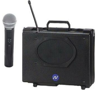 Amplivox SW223 Wireless Audio Buddy PA System with Handheld Mic