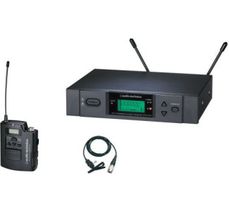 Audio Technica ATW-3131A freq-agile UHF Wireless Lavalier Mic System with 831 Mic