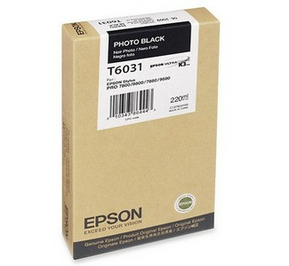 Epson 220ML Ultrachrome K3 Photo Black Ink Cartridge For Pro 7880 / 9800 Printer