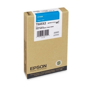 Epson 220ML Ultrachrome K3 Cyan Ink Cartridge For Pro 7880 / 9800 Printer