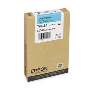 Epson 220ML Ultrachrome K3 Photo Light Cyan Ink Cartridge For Pro 7880 / 9800 Printer
