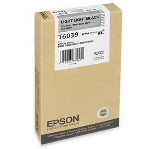 Epson 220ML Ultrachrome K3 Photo Light Light Black Ink Cartridge For Pro 7880 / 9800 Printer