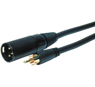 Comprehensive XLRP-PP-3EXF Series XLR Plug to RCA plug audio cable 3ft