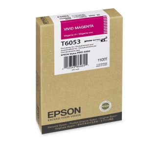 Epson T605300 110 ml Vivid Magenta UltraChrome Ink Cartridge for Epson Stylus Pro 4880
