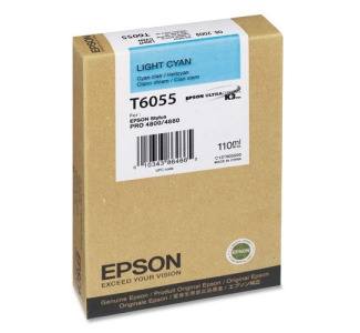 Epson T605500 110 ml Light Cyan UltraChrome Ink Cartridge for Epson Stylus Pro 4880