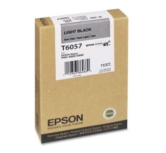 Epson T605700 110 ml Light Black UltraChrome Ink Cartridge for Epson Stylus Pro 4880