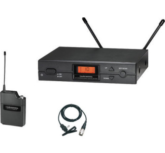 Audio Technica ATW-2129 with ATW-R2100 Receiver, ATW-T210 UniPak and AT829c Lavalier Microphone