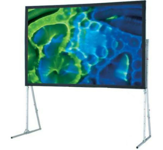 Draper 8'x 8' Ultimate Folding Screen - Matte White with Wheel Case and Standard T-Legs