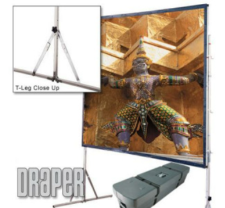 Draper Cinefold 62 x 108 Front Projection Screen Matte White - Standard Legs - HDTV Format