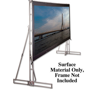 Draper Truss-Style 16 x 21' - Cinefold Matte White Front Projection - NTSC Format (Surface Material Only)